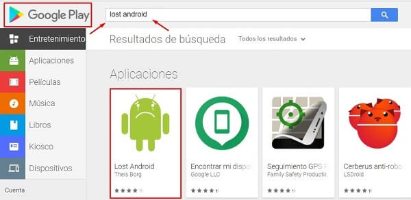 aplicacion para rastrear movil android