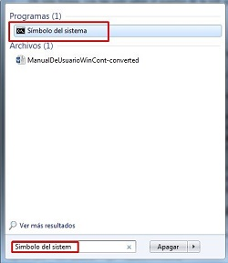 consola windows para ver clave de wif