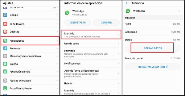 delete the Android data app
