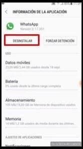 desinstalar aplicación android