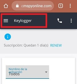 keylogger android remoto