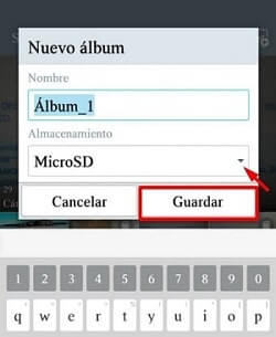 configurar la tarjeta microSD